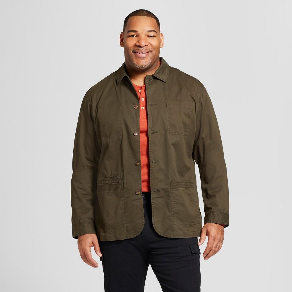 Men's Big & Tall Standard Fit Chore Blazer - Goodfellow & Co Olive 2XBT, Green