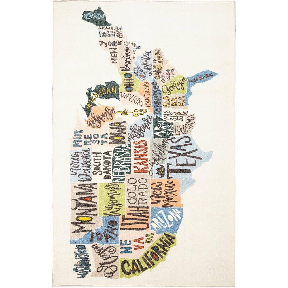 5 39 X8 39 States Map Rug Mohawk