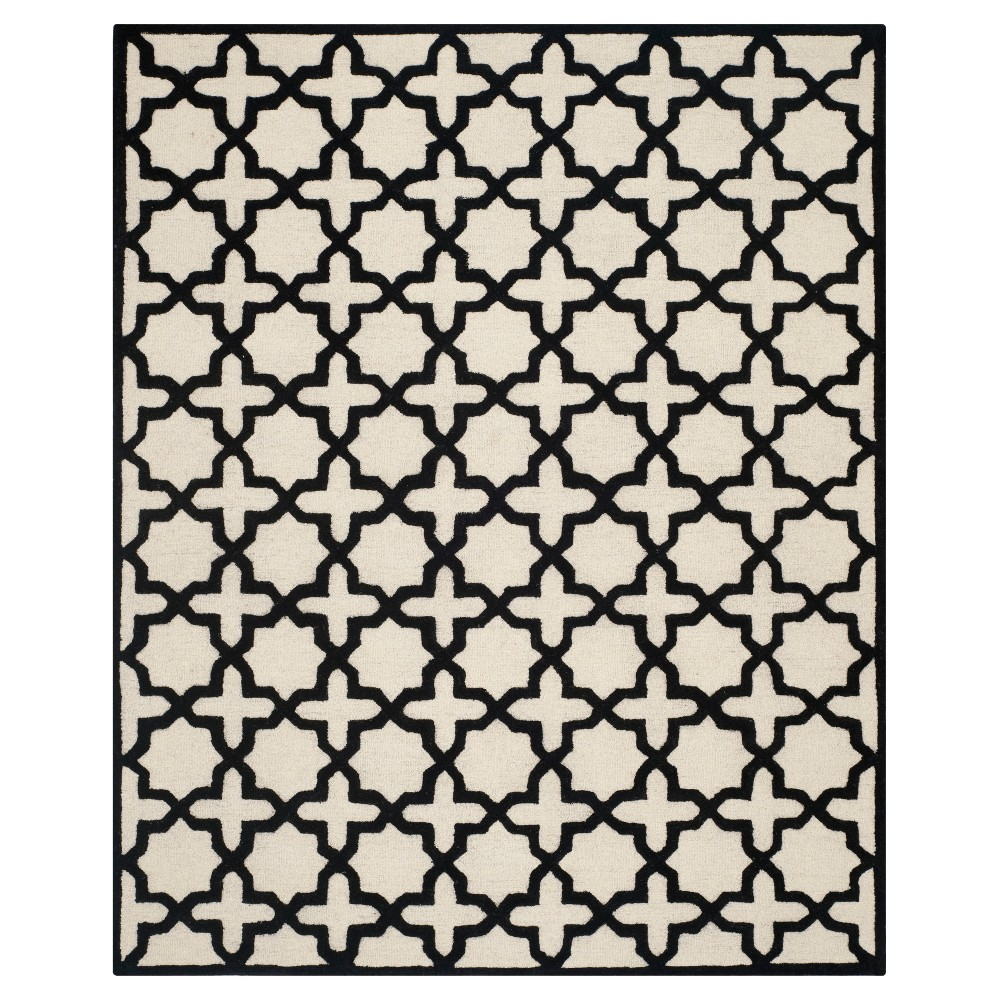 8'X10' Geometric Area Rug Ivory/Black - Safavieh
