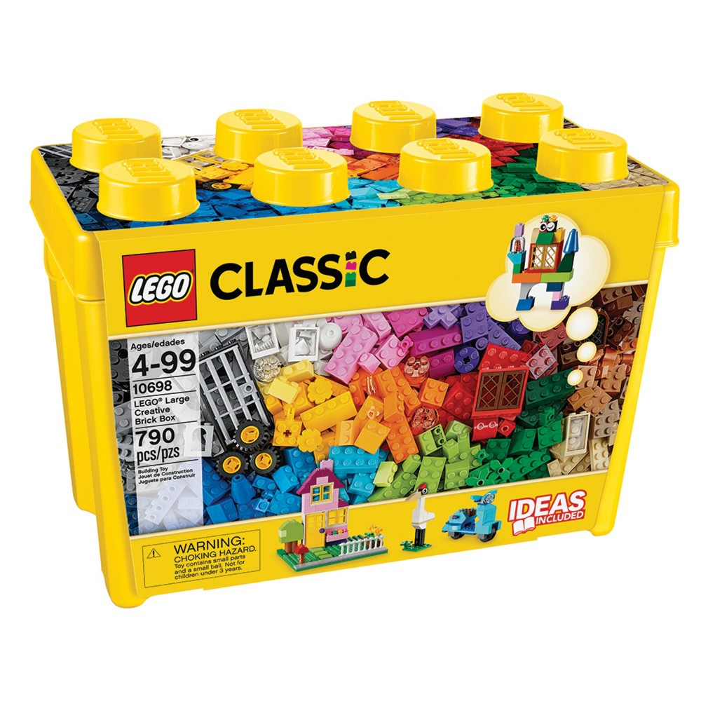 LEGO Classic Large Creative Brick Box 10698 Build Your Own Creative Toys, Kids Building Kit