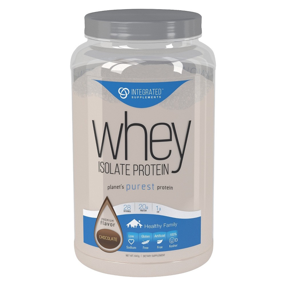 Integrated Supplements Whey Isolate Protein Powder - Chocolate - 1.85lb