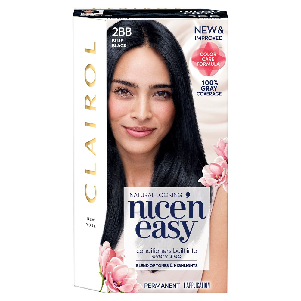 Nice 'n Easy Clairol Permanent Hair Color - 2BB Blue Black - 1 Kit
