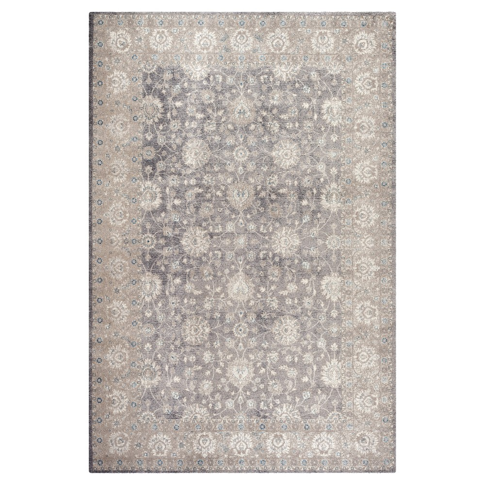 Light Gray/Beige Solid Loomed Area Rug - (6'7