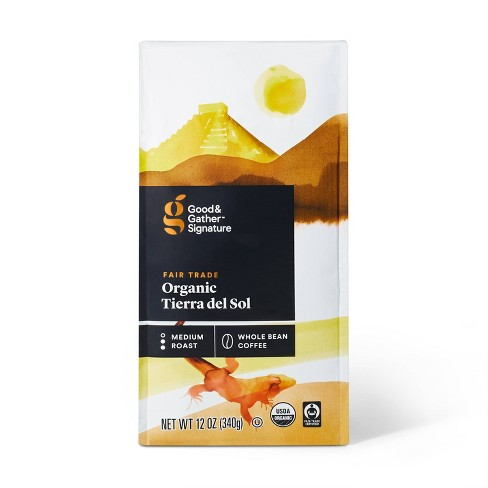 Signature Coffee Organic Tierra Del Sol Medium Roast Whole Bean Coffee - 12oz - Good & Gather™ - image 1 of 3