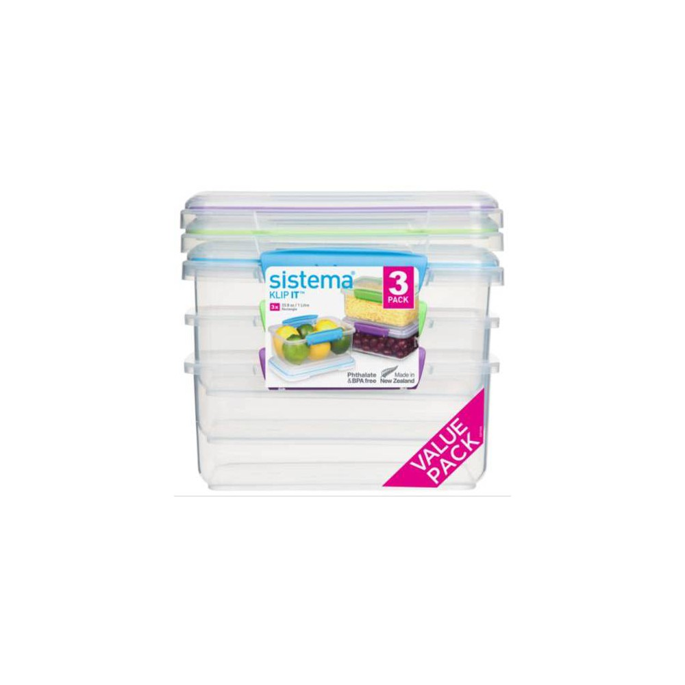 Image of Rubbermaid 3pk Plastic Rectangular Food Storage Containers