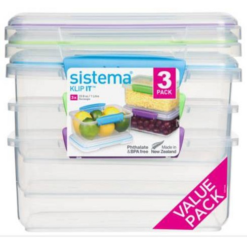 Rubbermaid 3pk Plastic Rectangular Food Storage Containers Target