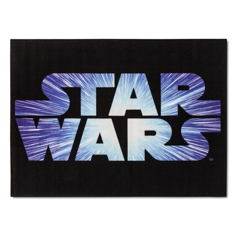 "Star Wars® Black Accent Rug (3'4""x4'6"") - image 1 of 2"