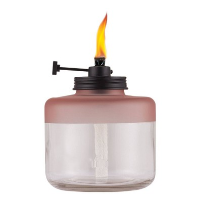 Frosted Glass Tabletop Outdoor Adjustable Flame Torch - TIKI