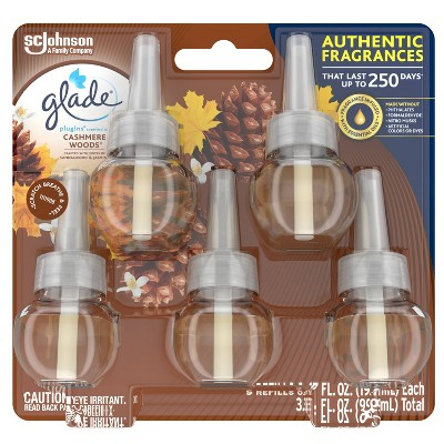 Glade Cashmere Woods PlugIns Refill - 5ct