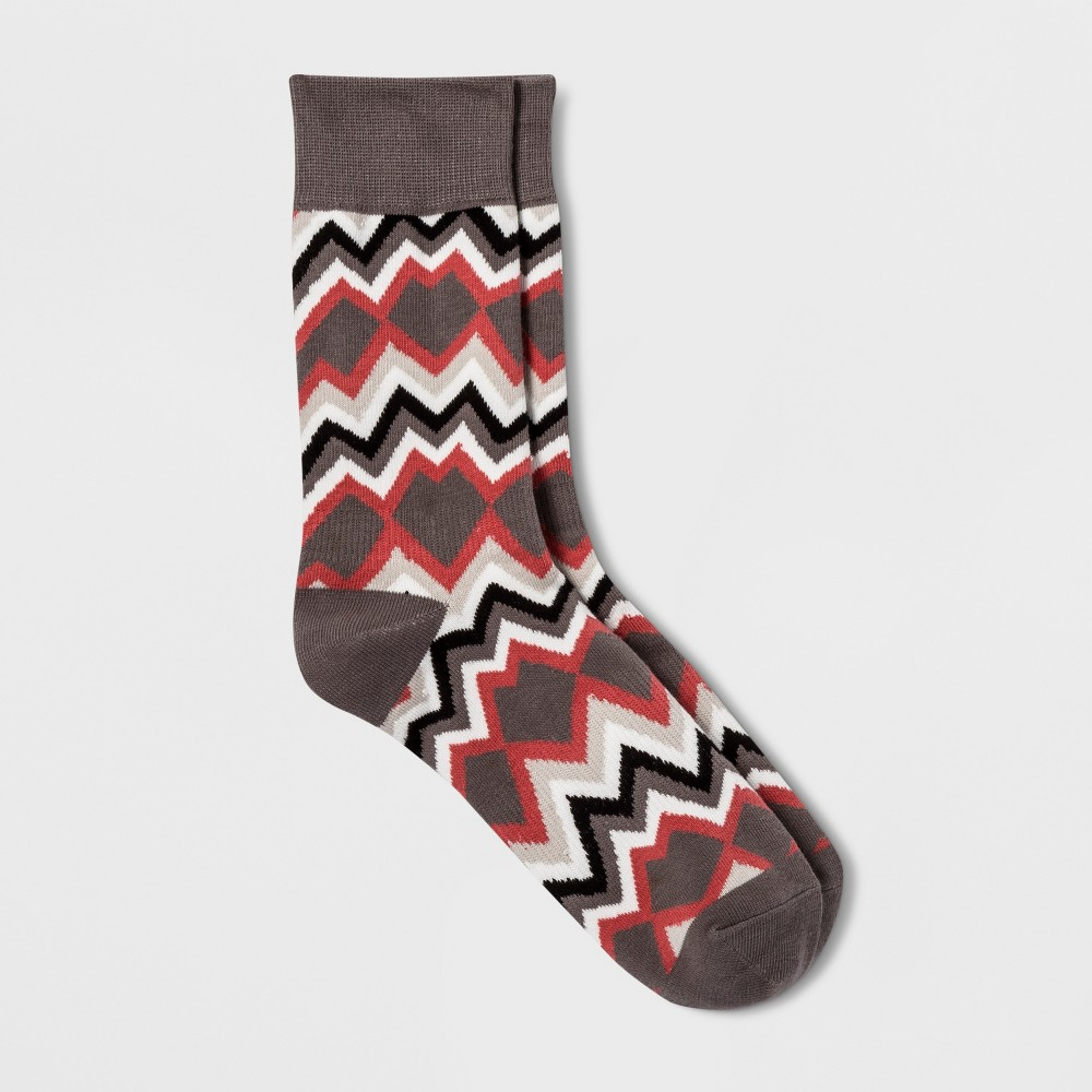 Pair of Thieves Men's Crew Socks - Red/Gray 8-12, Size: Small, Red Gray was $5.99 now $4.19 (30.0% off)