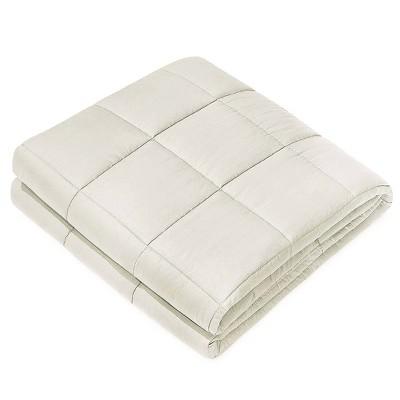 Cotton Weighted Blanket with Silk Eye Mask Beige - NEX