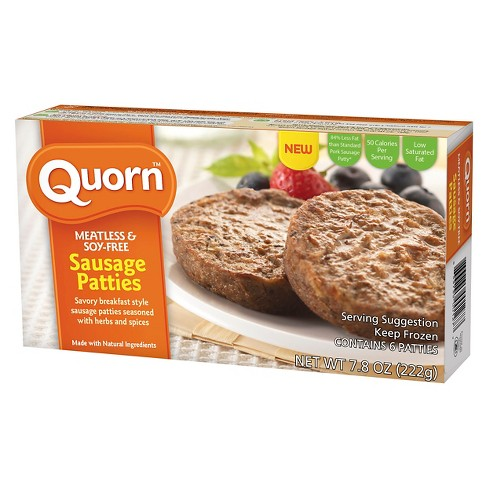 Quorn Meatless and Soy Free Frozen Sausage Patties - 7.8oz - image 1 of 1
