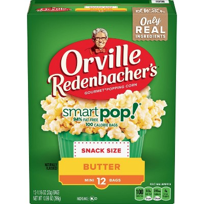 Orville Redenbacher's Smart Pop! Butter Popcorn Snack Size Bag - 13.96oz - 12ct