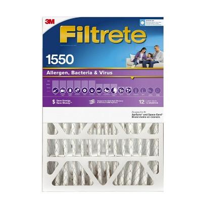 Filtrete Allergen Bacteria and Virus Air Filter 1550 MPR