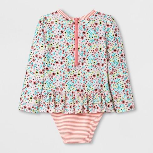 de42c89dc3e Toddler Girls  Zip Rash Guard One Piece Swimsuit - Cat   Jack™ Pink 4T    Target