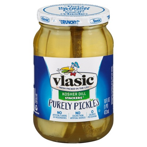 Vlasic Purely Pickles Kosher Dill Stackers - 16 fl oz - image 1 of 1