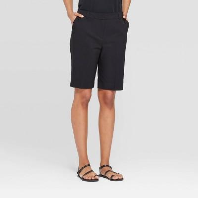 Women's Mid Rise Bermuda Shorts   Prologue Black by Rise Bermuda Shorts