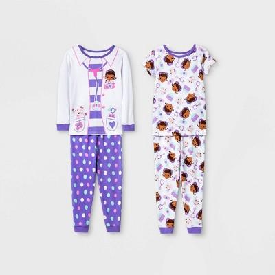 Toddler Girls' 4pc Doc McStuffins Snug Fit Pajama Set - White
