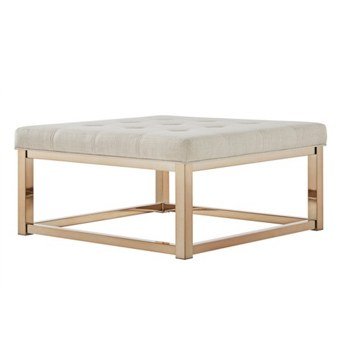 Fontaine Champagne Dimple Tufted Cocktail Ottoman Inspire Q Target
