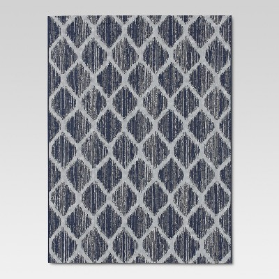 Brushed Diamond Blue Outdoor Rug - 5'x7' - Threshold™