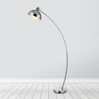 "60.25"" Hartford Modern Curved Floor Lamp with Bell Shade - Versanora"