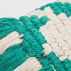Teal Fringe Small Lumbar Pillow - Opalhouse™ - image 2 of 3