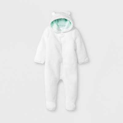 Baby Bear Bunting - Cloud Island™ White 0-3M