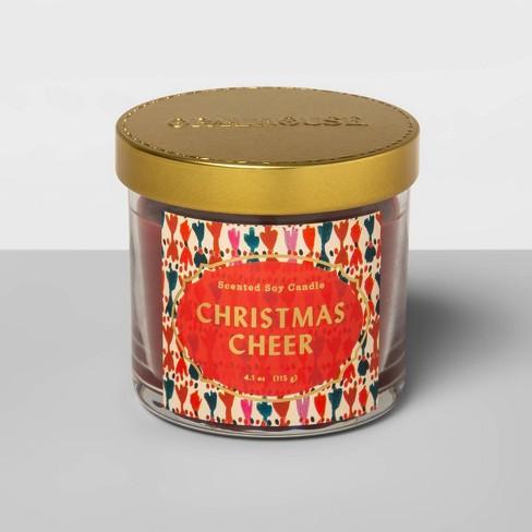 4.1oz Lidded Glass Jar Candle Christmas Cheer - Opalhouse™ - image 1 of 2