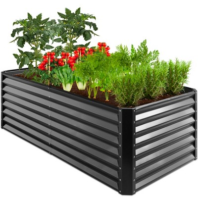 Best Choice Products 6x3x2ft Outdoor Metal Raised Garden Bed, Planter Box for Vegetables, Flowers, Herbs, Succulents