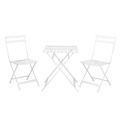 3pc Metal Patio Bistro Set - White - Olivia & May