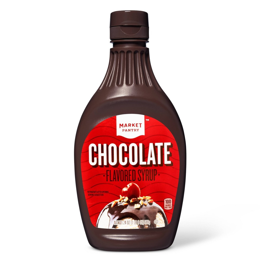 Chocolate Flavored Syrup 24oz Market Pantry 8482