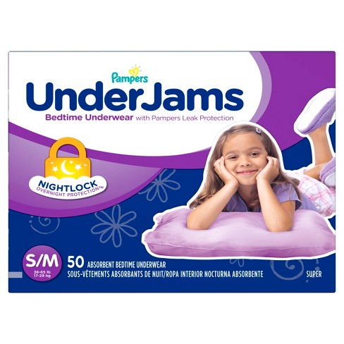 Pampers UnderJams Girls Bedtime Underwear Super Pack (Select Size) - image 1 of 4