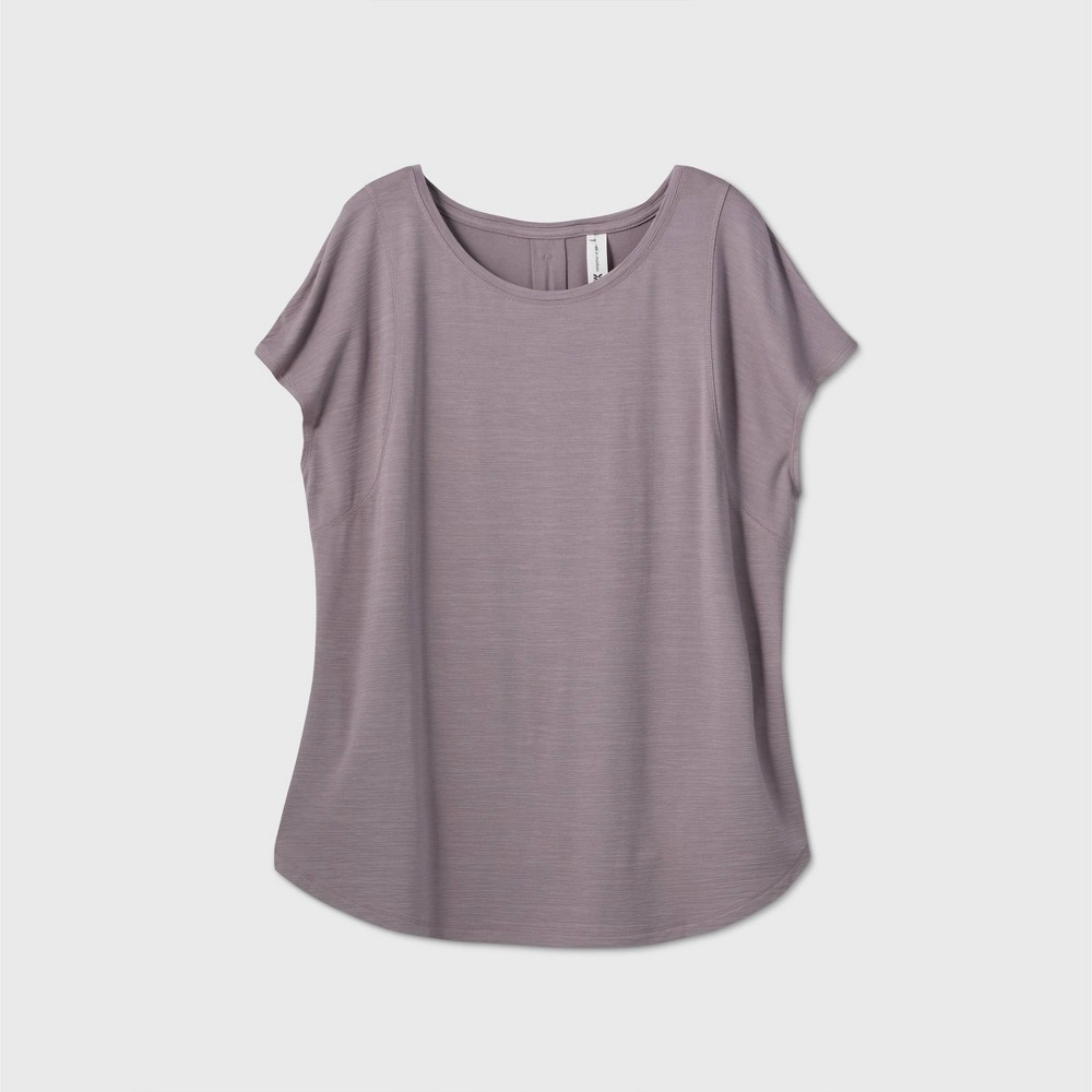 Women 39 S Plus Size Cap Sleeve T Shirt All In Motion 8482 Dark Taupe 4x