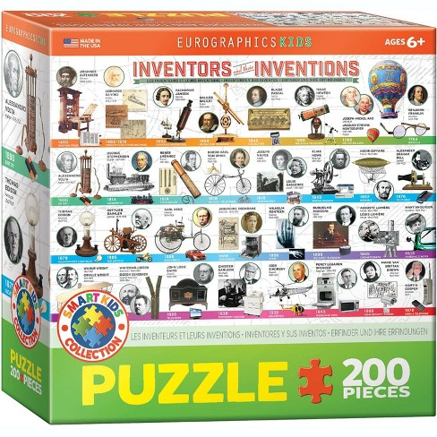 Eurographics Inc. Inventors and their Inventions 200 Piece Jigsaw Puzzle - image 1 of 4