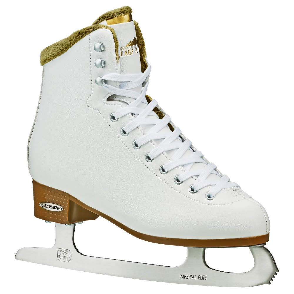 Lake Placid Whitney Women's Traditional Figure Ice Skate - White (Size 7)