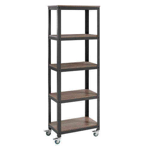 "71"" Vivify Bookcase Gray Walnut - Modway - image 1 of 4"