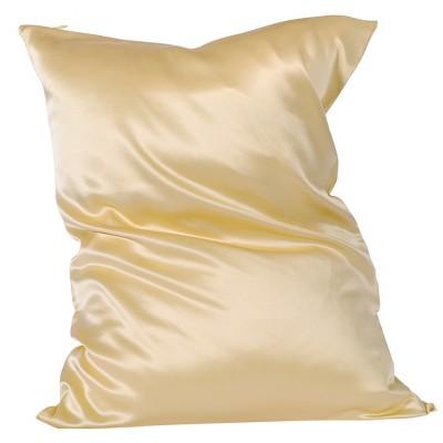 1 Pc Queen Silk for Hair and Skin Pillowcase Gold - PiccoCasa
