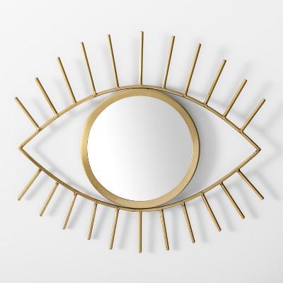 Eye Decorative Mirror Wall Sculpture Gold - Room Essentials™