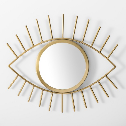 Eye Decorative Mirror Wall Sculpture Gold - Room Essentials™ - image 1 of 1