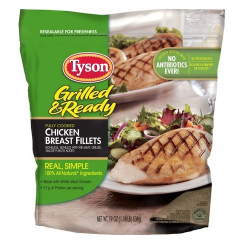 Tyson Grilled Ready Chicken Breast Fillets 22oz Target