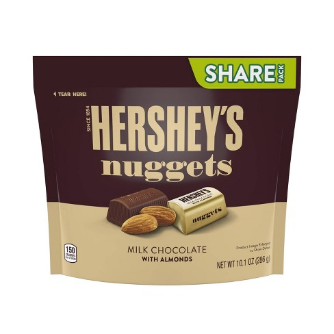 Hershey's Nuggets with Almonds Share Size Chocolates - 10.1oz - image 1 of 4