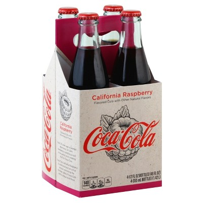 Coca-Cola Origins California Raspberry - 4pk/12 fl oz Glass Bottles