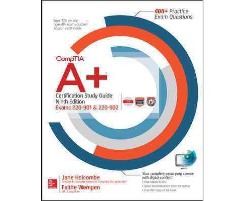 Comptia A+ Certification (Exams 220-901 & 220-902) (Paperback) (Faithe Wempen & Jane Holcombe) - image 1 of 1