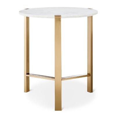 Nate Berkus Gold Coffee Table.Marble Gold Accent Table Nate Berkus Target