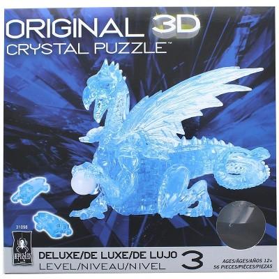 University Games Blue Dragon 56 Piece 3D Crystal Jigsaw Puzzle