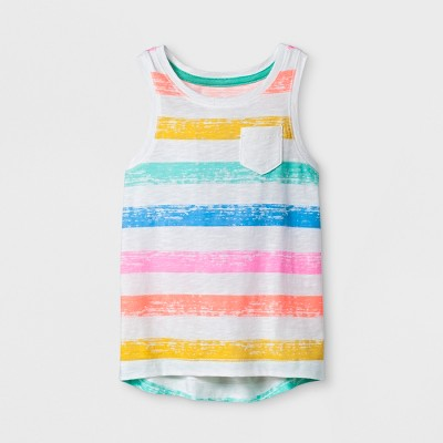 Toddler Girls' Tank Top - Cat & Jack™ Rainbow Stripe 4T