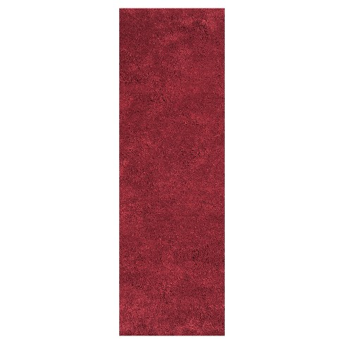 Bliss Red Shag Woven Rug - KAS - image 1 of 1
