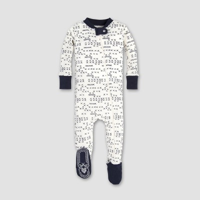 Burt's Bees Baby® Baby Boys' Cross Stitched Sleeper - Midnight 0-3M