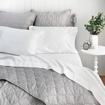 Queen Printed Cotton Sheet Set Gray Dot - Martha Stewart