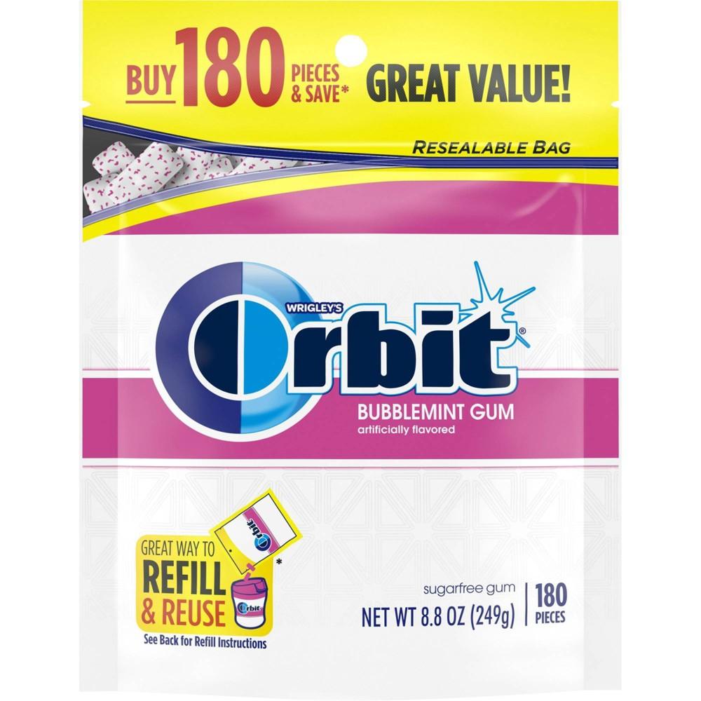 Orbit Bubblemint Sugar Free Gum 180ct